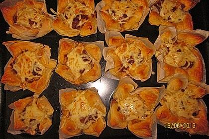 Herzhafte Blätterteig - Gehacktes - Muffins 6