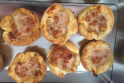 Herzhafte Blätterteig - Gehacktes - Muffins 4