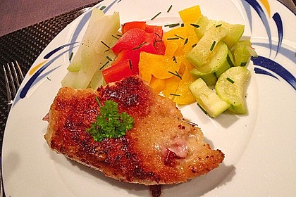 Cordon bleu von der Pute mit Kräuterfrischkäse 5