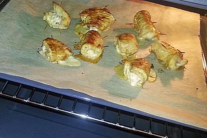 Cordon bleu von der Pute mit Kräuterfrischkäse 9