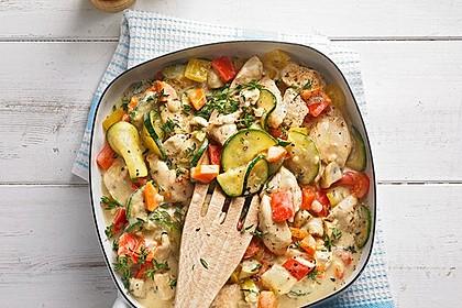 Rezeptbild zum Rezept Mediterrane Gemüsepfanne mit Hähnchenbrustfilet