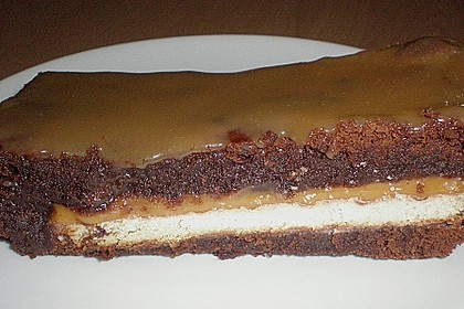 Twix White - Brownies mit Rahmkaramell - Topping 15