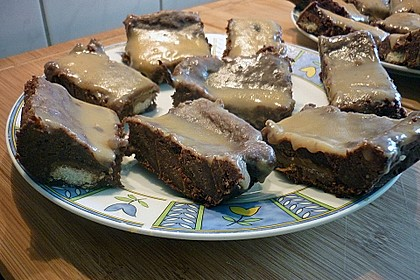 Twix White - Brownies mit Rahmkaramell - Topping 24