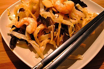Thai Reisnudeln mit Shrimps 1