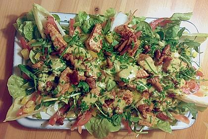 Bunter Sommersalat mit Putenbruststreifen und Caesars Dressing 5