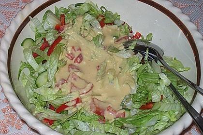 Bunter Sommersalat mit Putenbruststreifen und Caesars Dressing 8