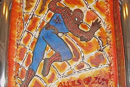 Lettas Spiderman - Motivtorte 2