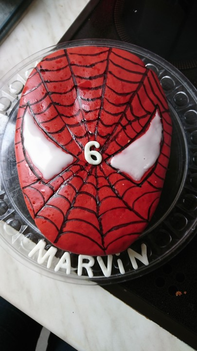 Spiderman torte ohne fondant
