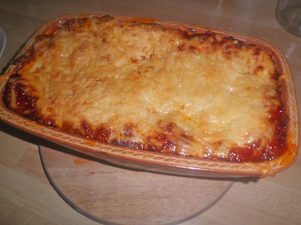 schnelle lasagne rezept mit bild von mareikaeferchen