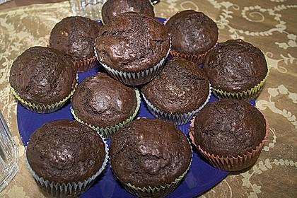Schokoladen Muffins für Eilige 12