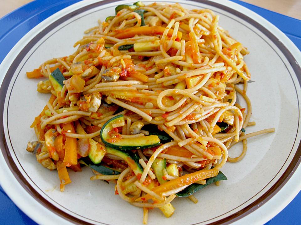 Gemüsespaghetti welches gemüse