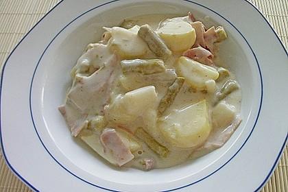 Bechamelkartoffeln mit Spargel 3
