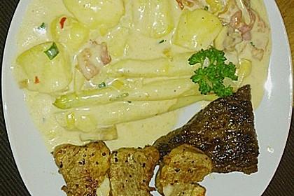 Bechamelkartoffeln mit Spargel 4