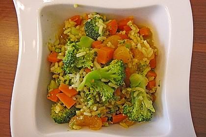 Indischer Gemüsereis mit Mandarinen 0