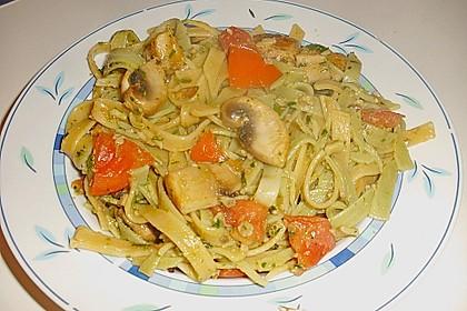 Bärlauch - Spaghetti mit Tomaten - Champignon - Gemüse 2