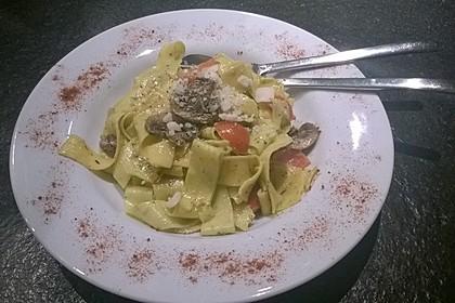 Bärlauch - Spaghetti mit Tomaten - Champignon - Gemüse
