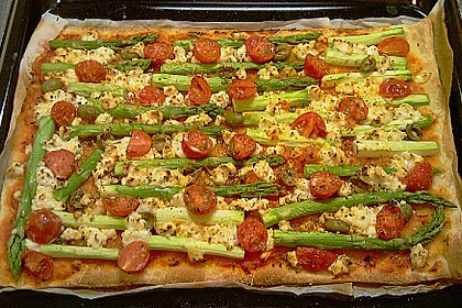 Spargel - Pizza 4