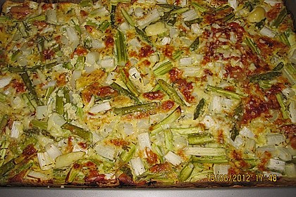 Spargel - Pizza 11