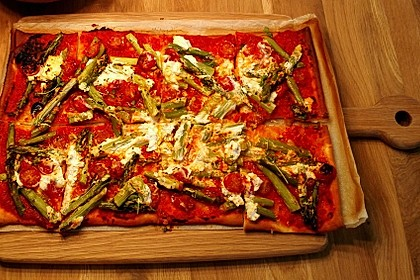 Spargel - Pizza