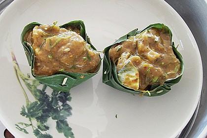 Gedämpftes Fischcurry im Bananenblatt 1