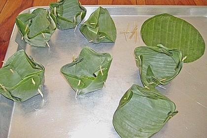 Gedämpftes Fischcurry im Bananenblatt 7