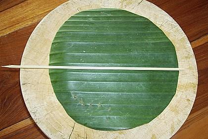 Gedämpftes Fischcurry im Bananenblatt 8