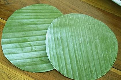 Gedämpftes Fischcurry im Bananenblatt 3