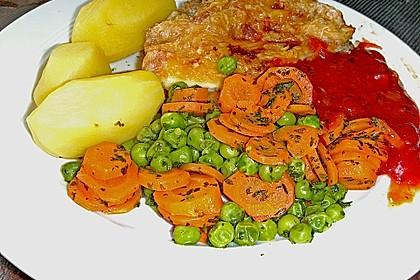 Frisches Erbsen - und Möhrengemüse 9