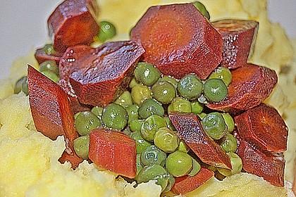 Frisches Erbsen - und Möhrengemüse 5