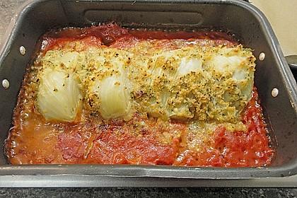 Überbackener Fenchel auf Tomatenbeet 1