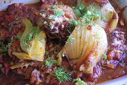 Überbackener Fenchel auf Tomatenbeet 2