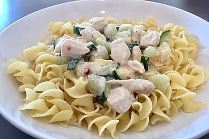 Hähnchen - Kohlrabi - Zucchini Pfanne 13