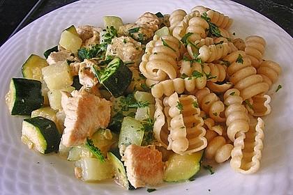 Hähnchen - Kohlrabi - Zucchini Pfanne 2