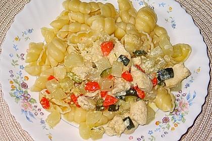 Hähnchen - Kohlrabi - Zucchini Pfanne 11