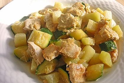 Hähnchen - Kohlrabi - Zucchini Pfanne 1
