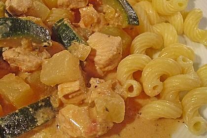 Hähnchen - Kohlrabi - Zucchini Pfanne 10