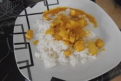 Curry - Geschnetzeltes mit Ananas 4