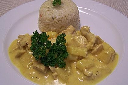Curry - Geschnetzeltes mit Ananas