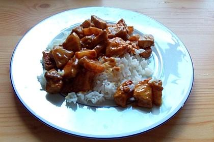 Curry - Geschnetzeltes mit Ananas 0
