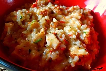 Risotto mit Hühnchen und Paprika 5