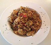 Risotto mit Hühnchen und Paprika