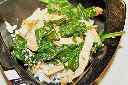 Schweinefleisch mit Spinat 4