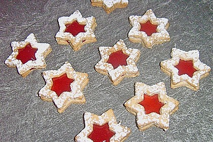 Erdbeer  - Spekulatius Sterne 1