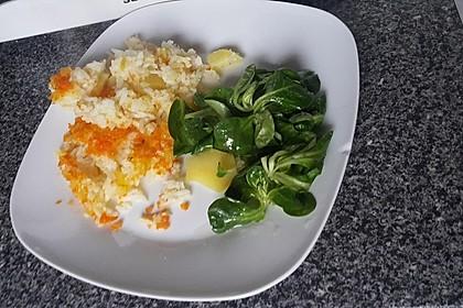 Leckere Hauptspeise aus Reis, Kartoffel und Fleisch 2
