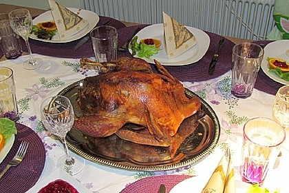 Thanksgiving - Truthahn mit Niedrigtemperatur gegart 0