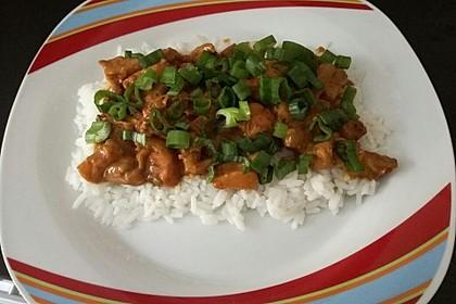 Hähnchen-Ananas-Curry mit Reis 25