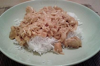 Hähnchen-Ananas-Curry mit Reis 39