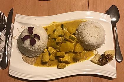 Hähnchen-Ananas-Curry mit Reis 5
