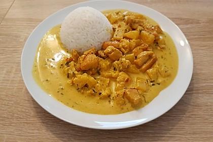 Hähnchen-Ananas-Curry mit Reis 6
