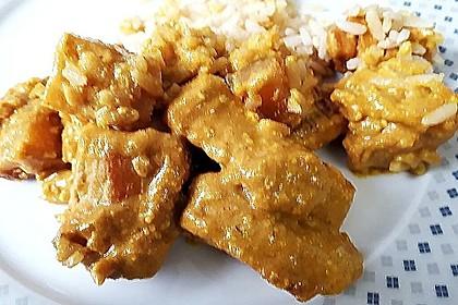 Hähnchen-Ananas-Curry mit Reis 79